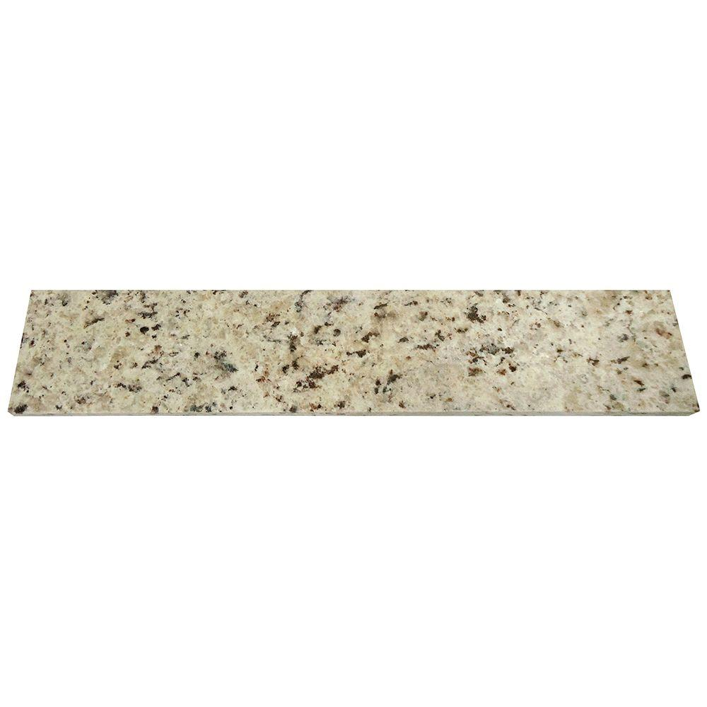 Home Decorators Collection 18 in. Granite Sidesplash in Giallo Ornamental
