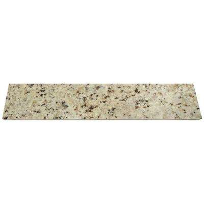 18 in. Granite Sidesplash in Giallo Ornamental