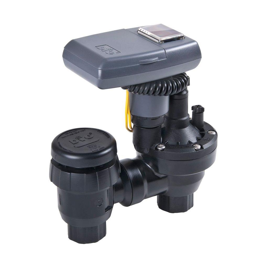 Solar Powered Irrigation Timer with Anti-Siphon Valve