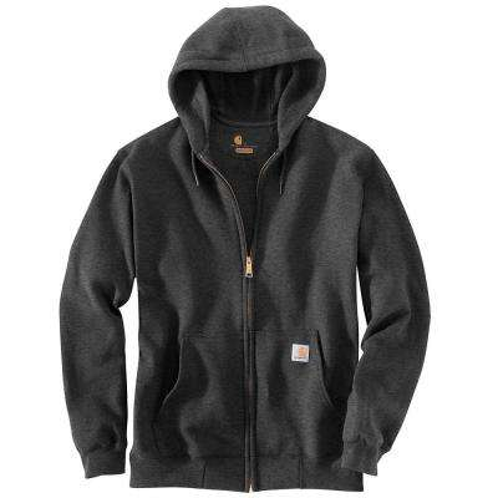 Men's Regular XXXX Large Carbon Heather Cotton/Polyester Long-Sleeve Sweats