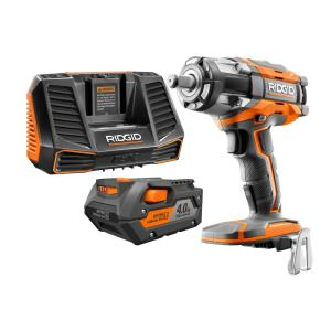 Rigid GEN5X 18-Volt Impact Wrench Kit with Battery & Charger