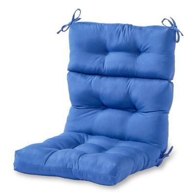 Solid Marine Outdoor High Back Dining Chair Cushion