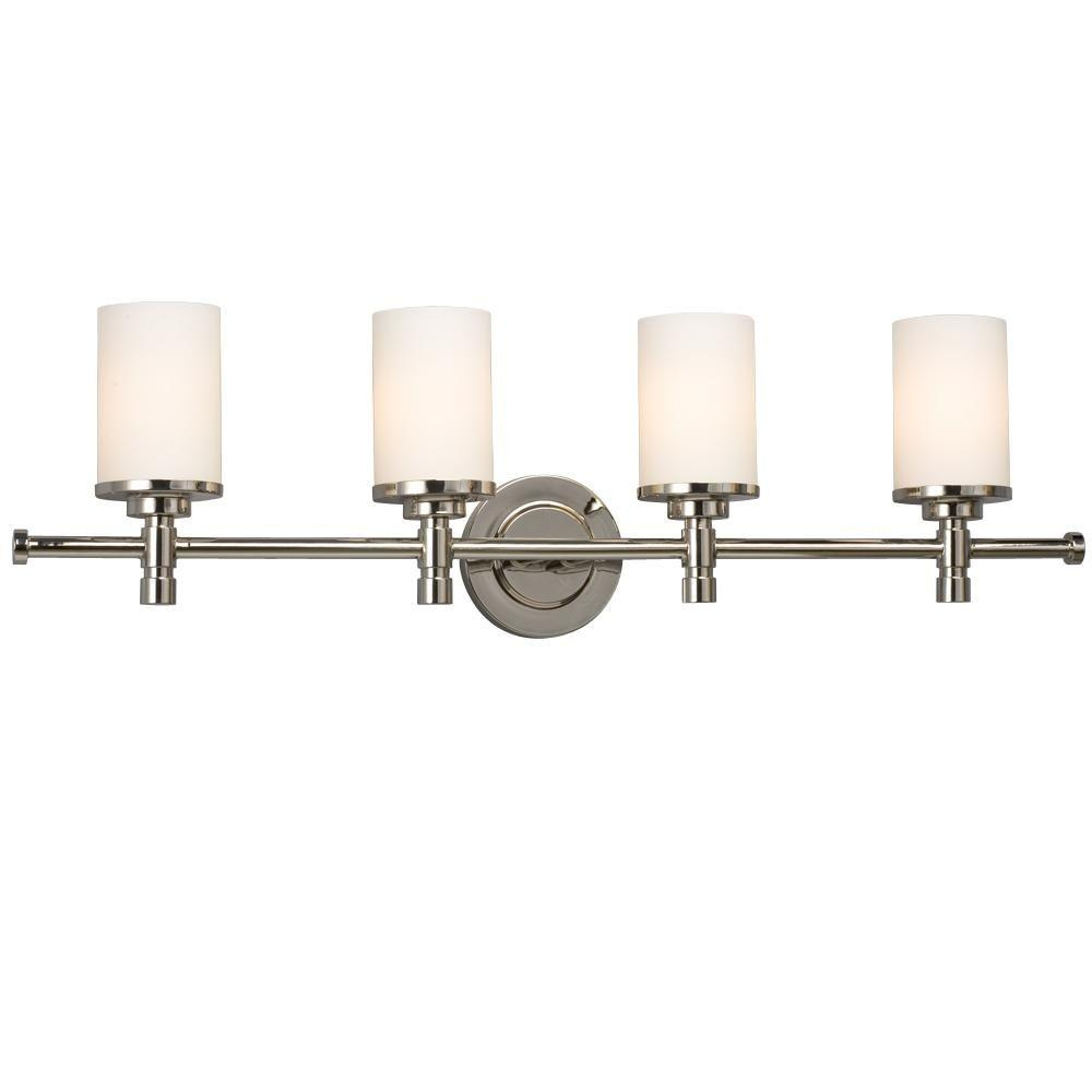 Negron 4-Light Chrome Incandescent Bath Vanity Light