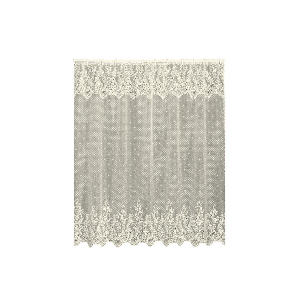 Floret 72 in. Ecru Shower Curtain
