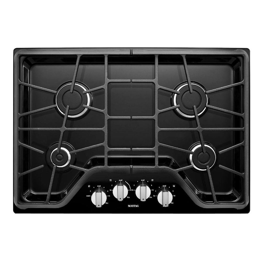 Amazing Maytag 30 In. Gas Cooktop In Stainless Steel With 4 Burners Including  15000 BTU Power Burner MGC7430DS   The Home Depot