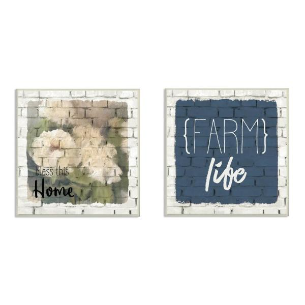 Stupell Industries 12 in. x 12 in. ''Bless This Home Farm