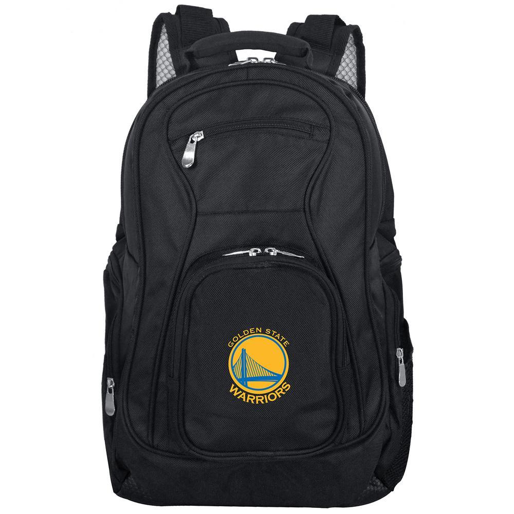 Denco NBA Golden State Warriors Black Backpack Laptop