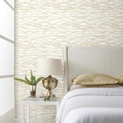 28.18 sq. ft. Singed Gold Peel and Stick Wallpaper