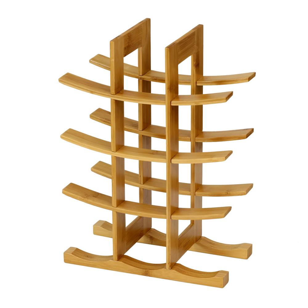 DaPur 12-Bottle Bamboo Wine Rack