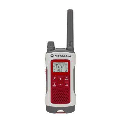 Talkabout T480 Rechargeable Emergency Preparedness 2-Way Radio with Stand in Red/White