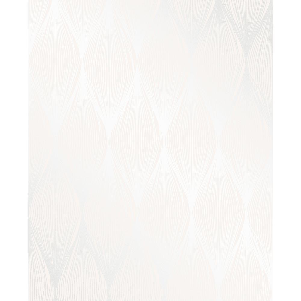 Decorline Gleam Cream Linear Ogee Wallpaper