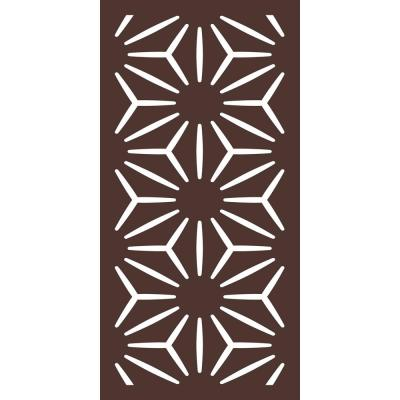 5/16 in. x 24 in. x 48 in. Star Anais Modular Hardwood Composite Decorative Fence Panel