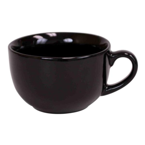 Home Basics 22 oz. Jumbo Ceramic Coffee Mug in Black CM01586