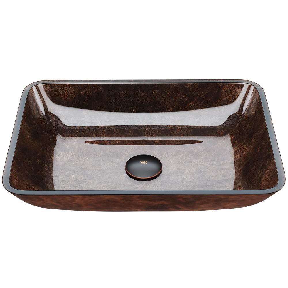 18 in. Rectangular Vessel Sink in Russet