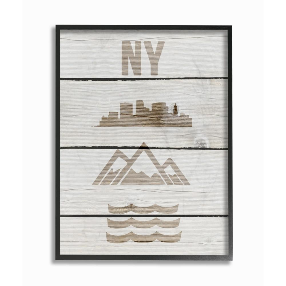 11 In X 14 In New York City Symbols Distressed Wood By Daphne