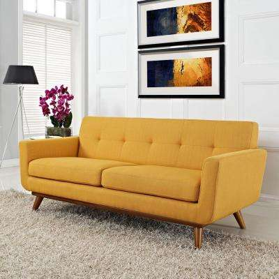 Engage Citrus Upholstered Fabric Loveseat