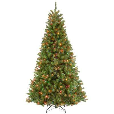 7 ft. North Valley Spruce Hinged Artificial Christmas Tree with 500 Multicolor Lights