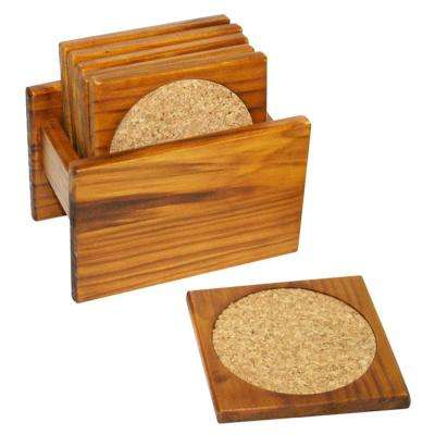 6-Piece Pine Coaster Set