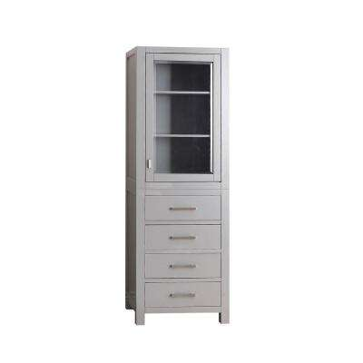 Modero 24 in. W x 71 in. H x 20 in. D Bathroom Linen Storage Tower Cabinet in Chilled Gray
