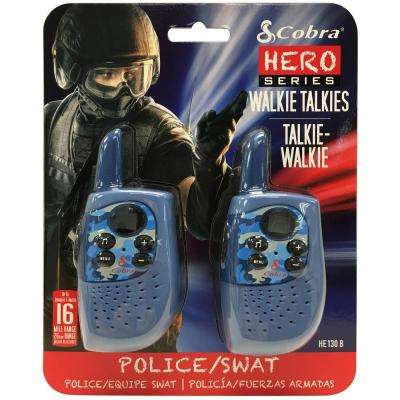 Kids Police/SWAT Hero 16-Mile Range 2-Way Radio (2-Pack)