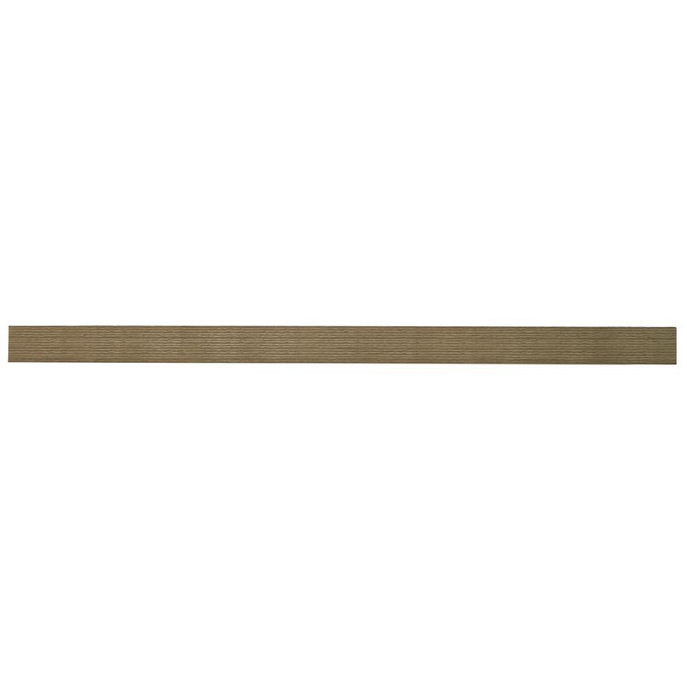 inPlace 60 in. W x 10.2 in. D x 2 in. H Driftwood Gray Oak Extended Size Floating Shelf