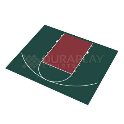 30 ft. 5 in. x 25 ft. 5 in. Half Court Basketball Kit