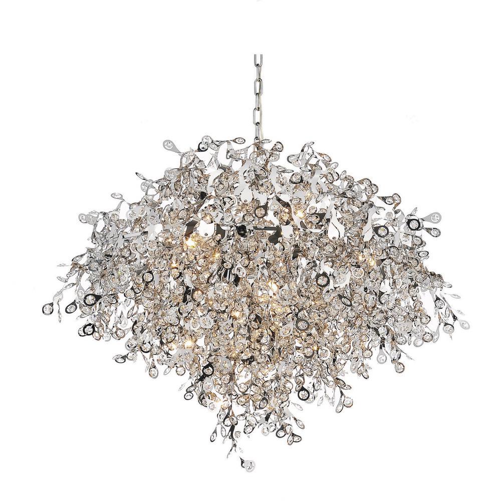 Flurry 17-light chrome chandelier