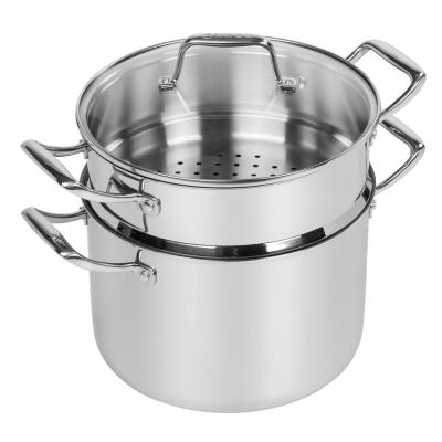 8 Qt. Stainless Steel Stockpot with Steamer Insert
