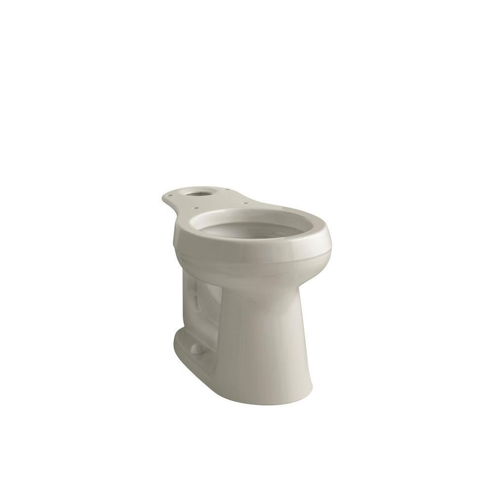 KOHLER Cimarron Comfort Height Round Toilet Bowl Only in Sandbar