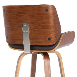 Peachy Armen Living Tyler 26 In Brown Swivel Bar Stool Caraccident5 Cool Chair Designs And Ideas Caraccident5Info