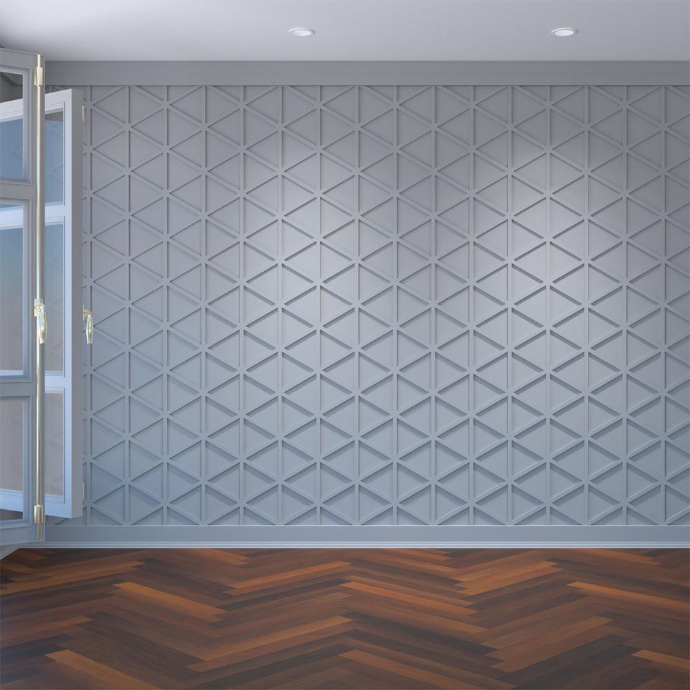 3/8 in. x 10-1/4 in. x 15-3/8 in. Medium Pendleton White Architectural Grade PVC Decorative Wall Panels