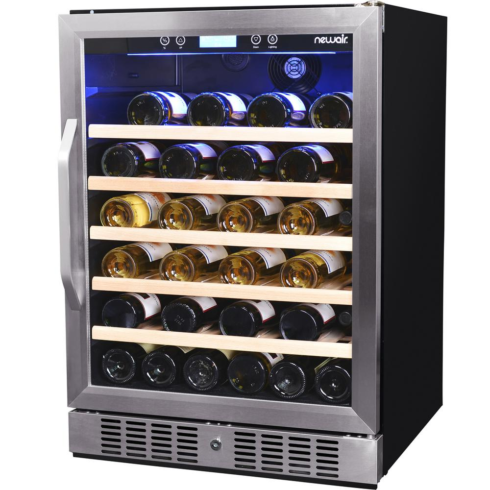 newair premier gold series 52 bottle compressor wine cooler awr 520sb the home depot. Black Bedroom Furniture Sets. Home Design Ideas