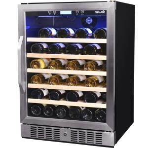 Click here to buy NewAir Premier Gold Series 52-Bottle Compressor Wine Cooler by NewAir.