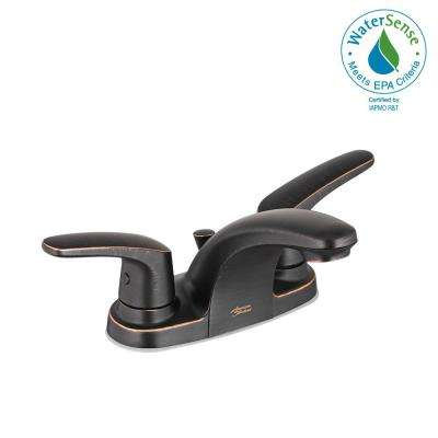 Colony Pro 4 in. Centerset 2-Handle Low-Arc Bathroom Faucet with 50/50 Pop-Up Assembly in Legacy Bronze