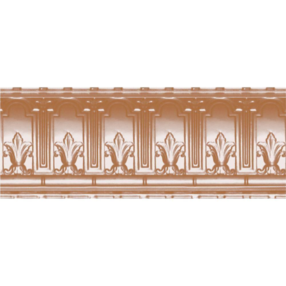 Shanko 9-1/2 in. x 4 ft. x 9-1/2 in. Satin Copper Nail-up...