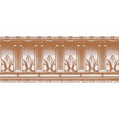 9-1/2 in. x 4 ft. x 9-1/2 in. Satin Copper Nail-up/Direct Application Tin Ceiling Cornice (6-Pack)