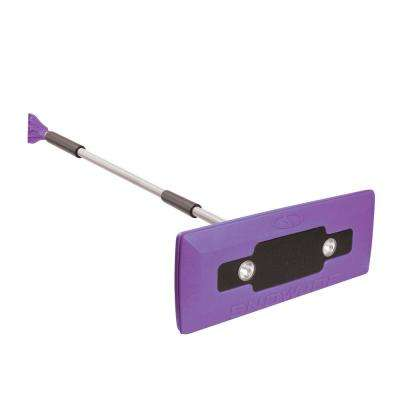 18 in. 4-in-1 Telescoping Snow Broom and Ice Scraper with Headlights, Purple