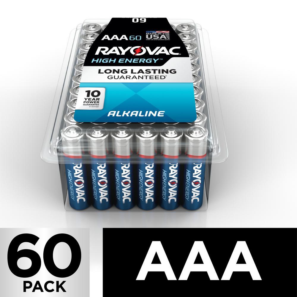 High Energy Alkaline AAA/1.5 Volt Battery (60-Pack)