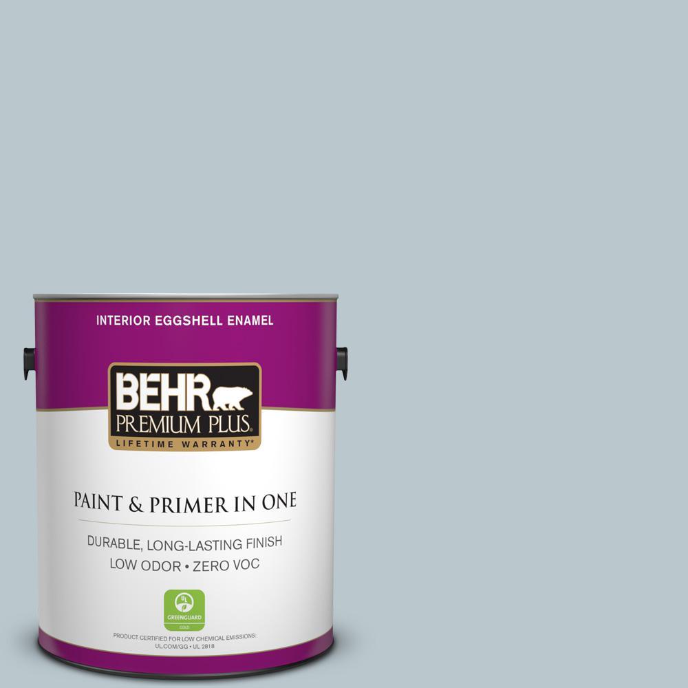 BEHR Premium Plus 1-gal. #N470-2 Oceanic Climate Eggshell Enamel Interior Paint