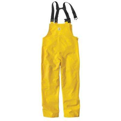 Men's Regular XXXX Large Yellow Polyvinyl/Chloride Waterproof Bib Overalls