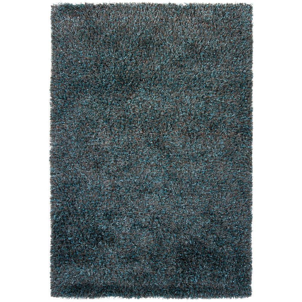 Mai Blue/Brown 9 ft. x 13 ft. Indoor Area Rug