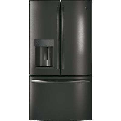 27.8 cu. ft. French Door Refrigerator in Black Stainless Steel, Fingerprint Resistant and ENERGY STAR
