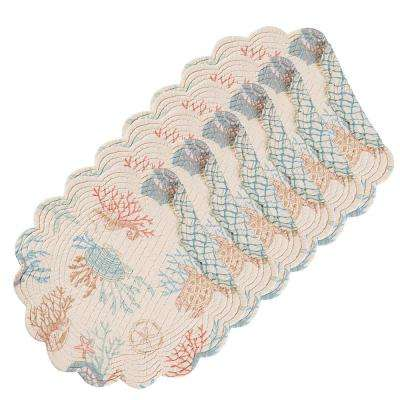 Seabrook Round Tan Placemat (Set of 6)
