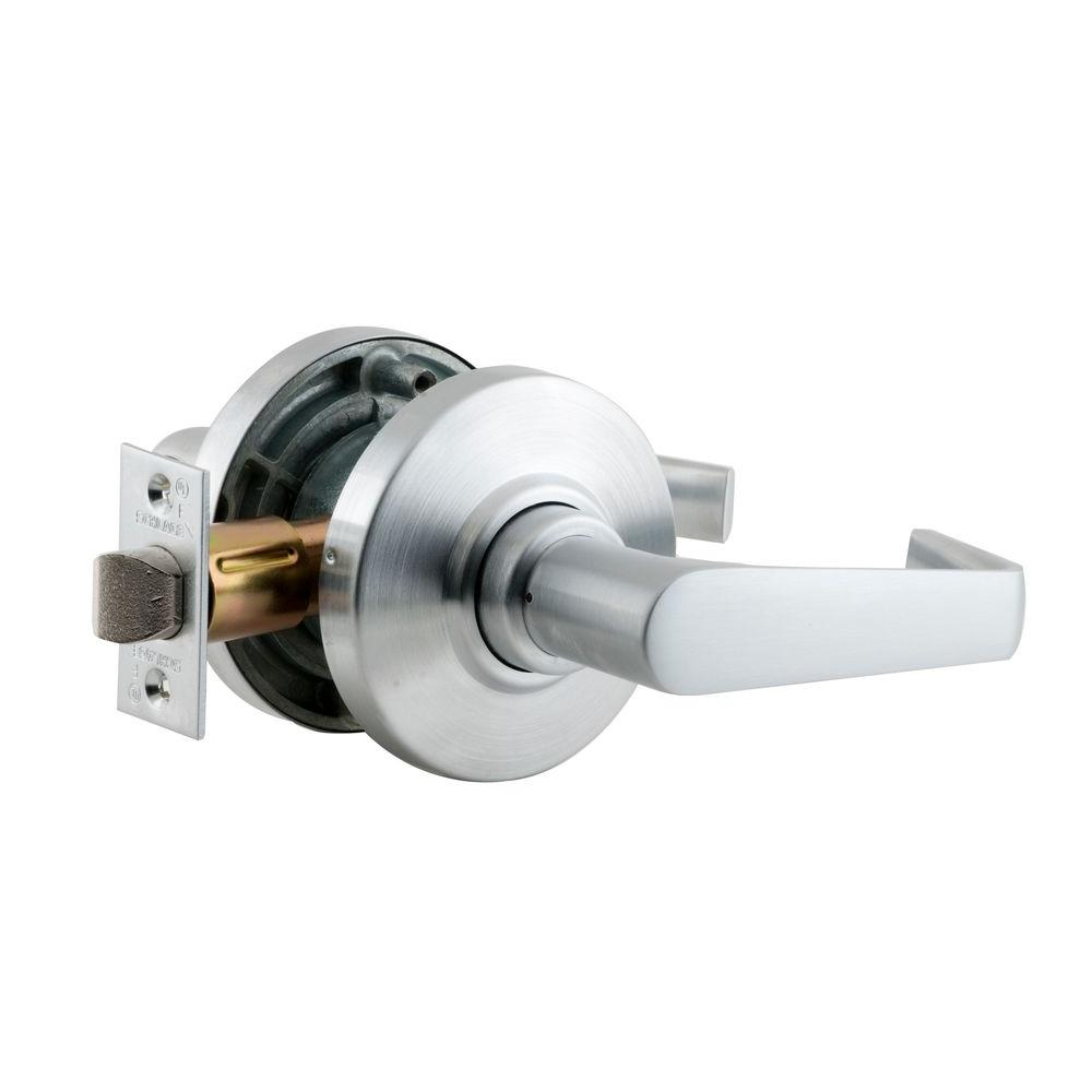 schlage commercial locks. Schlage AL Series Saturn Satin Chrome Commercial Passage Hall/Closet Door Lever Locks C