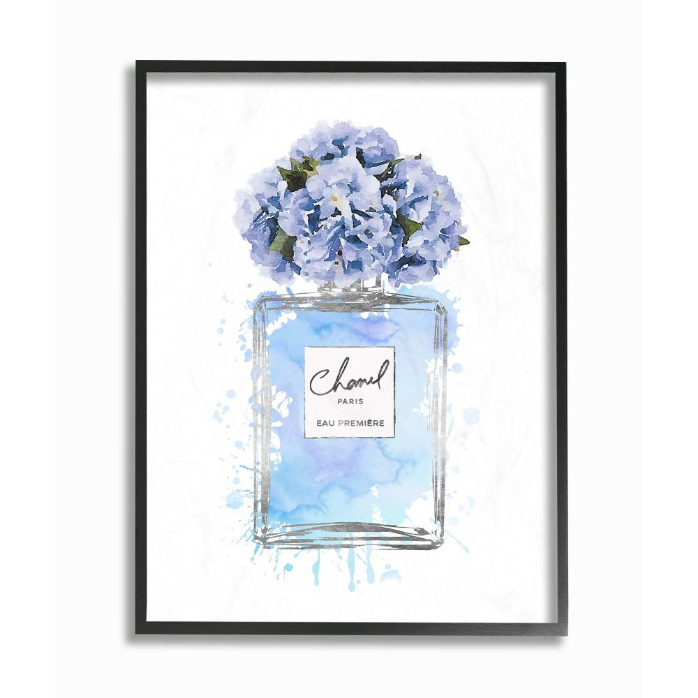 Stupell industries 11 in x 14 in blue flowers perfume bottle blue flowers perfume bottle watercolor izmirmasajfo