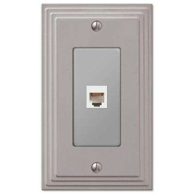 Steps 1 Phone Wall Plate - Nickel