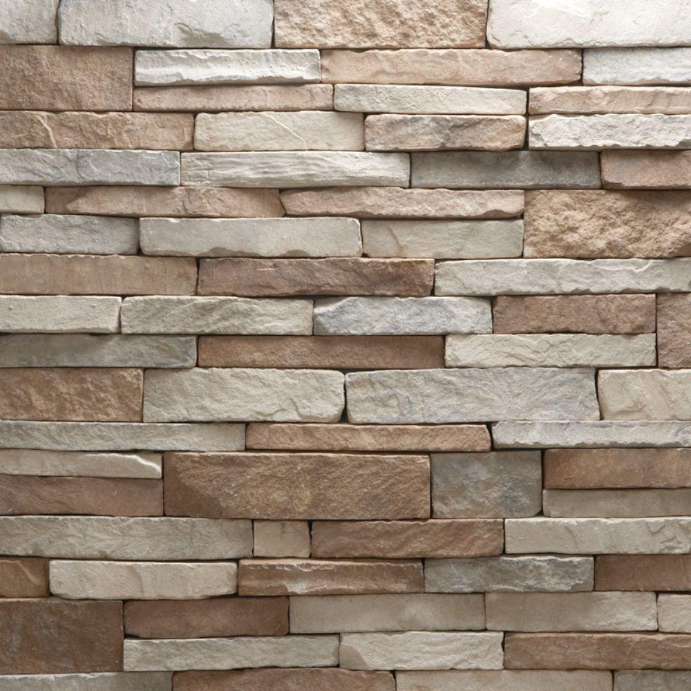Veneerstone stacked stone villa flats 10 sq ft handy for Manufactured veneer stone