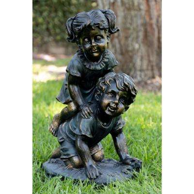 Girl and Boy Playing Statue