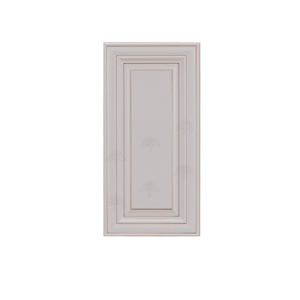 LIFEART CABINETRY Princeton Assembled 9 in. x 36 in. x12 in. 1-Door Wall  Cabinet wtih 2-Shelves in Creamy White Glazed
