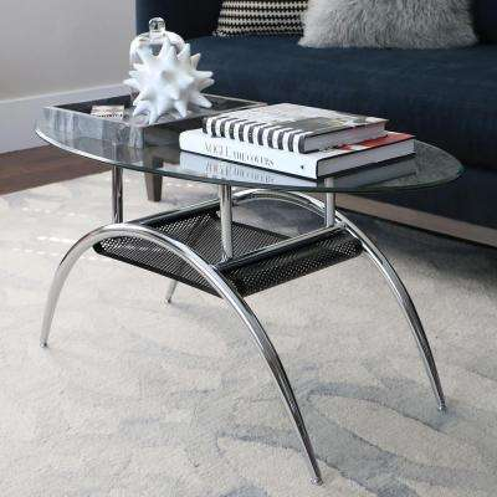 Glass Storage Coffee Table
